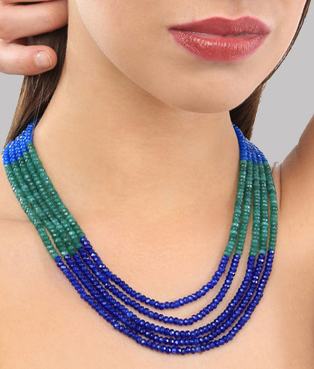 Keya Blue and Green Onyx Necklace