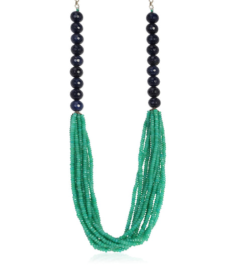 Mehar Green and Blue Onyx Necklace