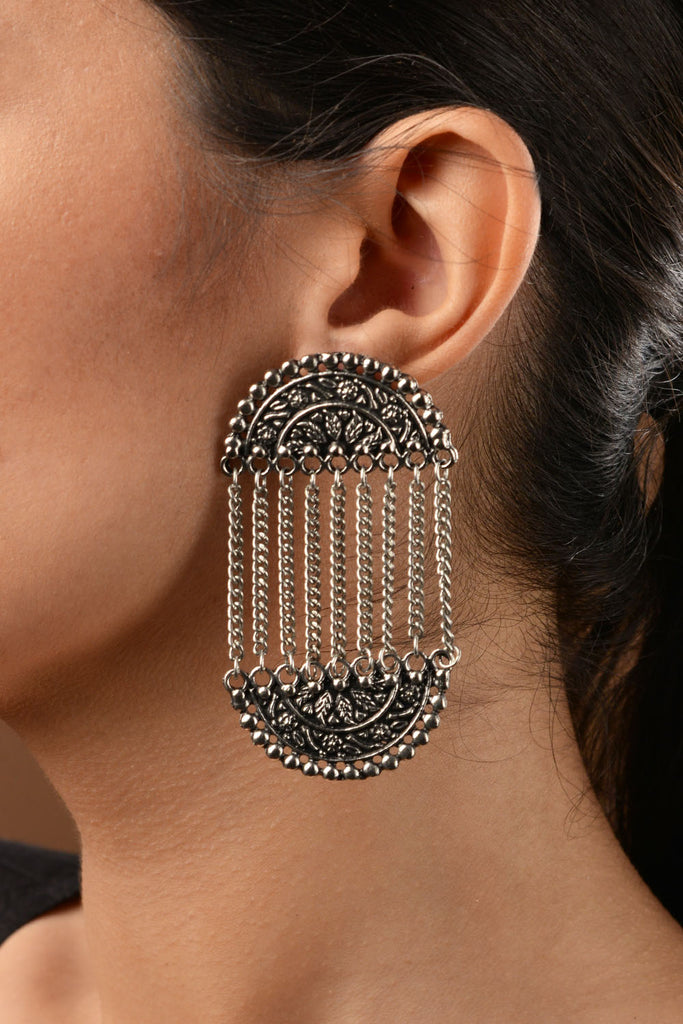 German Silver Tassel Earrings