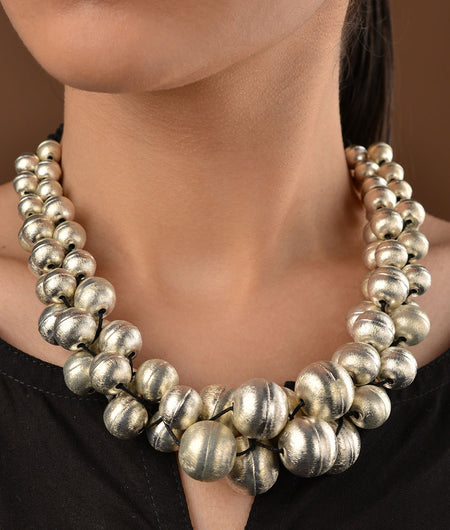 German Silver Eggshell Necklace