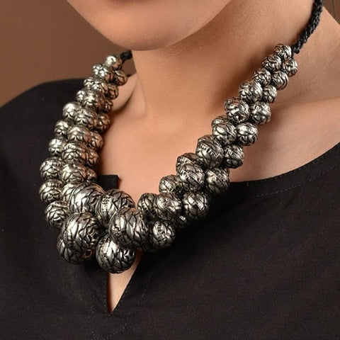 German Silver Balls Necklace