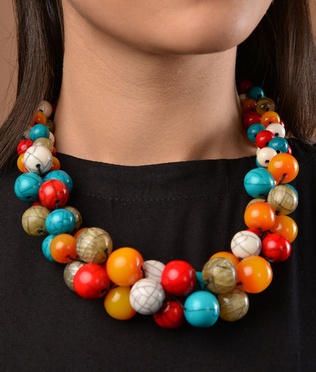 Multicoloured Beads Necklace