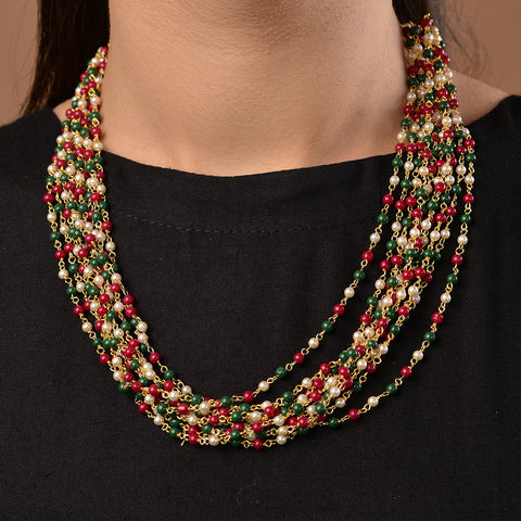 Aruba Multicoloured Beads Necklace