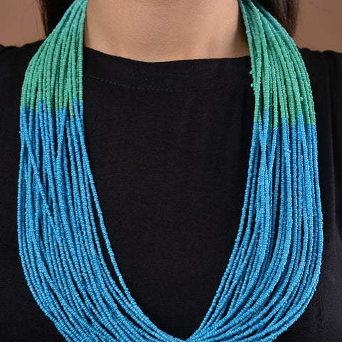Turquoise Ombre Beaded Necklace
