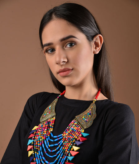 Blue and Red Tibetean necklace