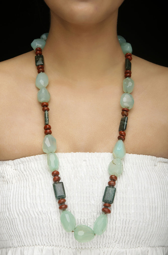 Brown Agate String Necklace