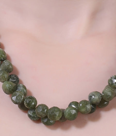 Light Green Semi Precious String Stone Necklace