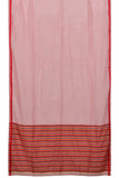 Bengal cotton  light red special weave Saree