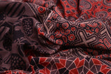Bengal mulmul cotton ajhrakh print black,brown and maroon ajrakh print Saree