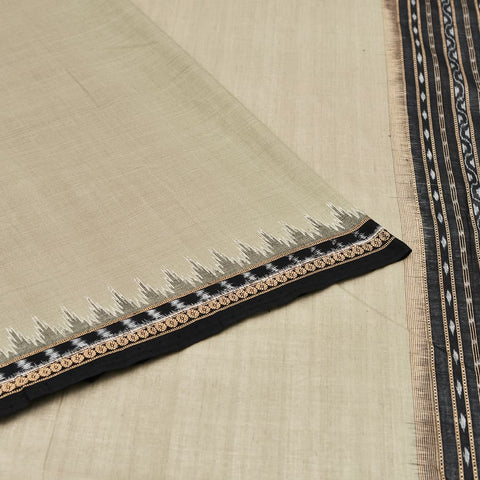 Grey Odisha Sambalpuri Ikkat Cotton Saree