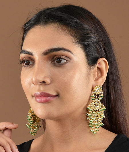 Tiny Three Layer Sabya Earrings