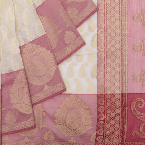 muga zari tissue handloom off white and red off white and red Saree