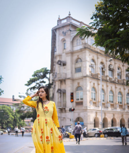 Yellow Ombre Cotton Dress