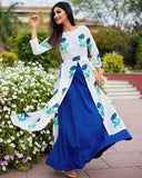blue hand block printed cotton Tunic Set