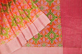 Orange -saree-VICSAR0036
