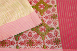 Pink and Green -saree-VICSAR0037