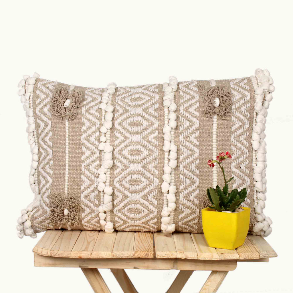 Hand Weave Rust brown Cushion Cover