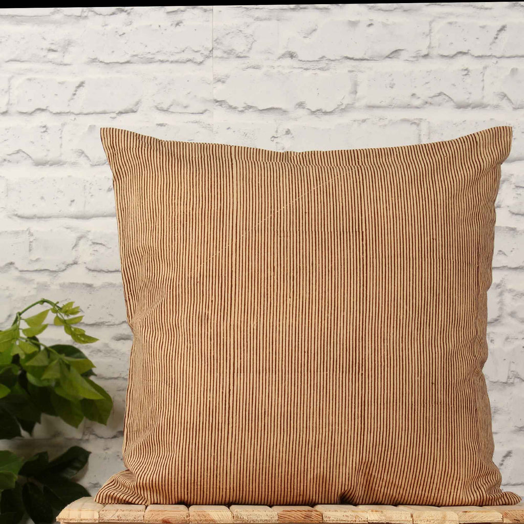 Hand Weave Brown Cushion Cover