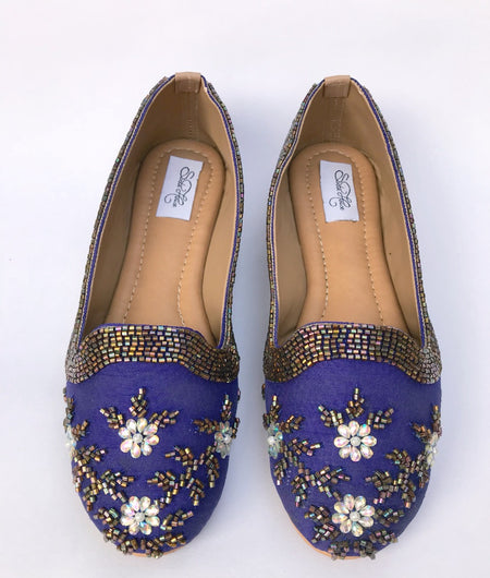 Blue Kutdana Loafers