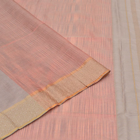 Bengal tussar silk grey plain Saree