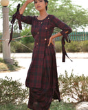 Handwoven Black Hand woven khadi Dress