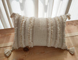 Hand Work Natural Cotton Cushion Cover (30.48cm x 45.72cm)