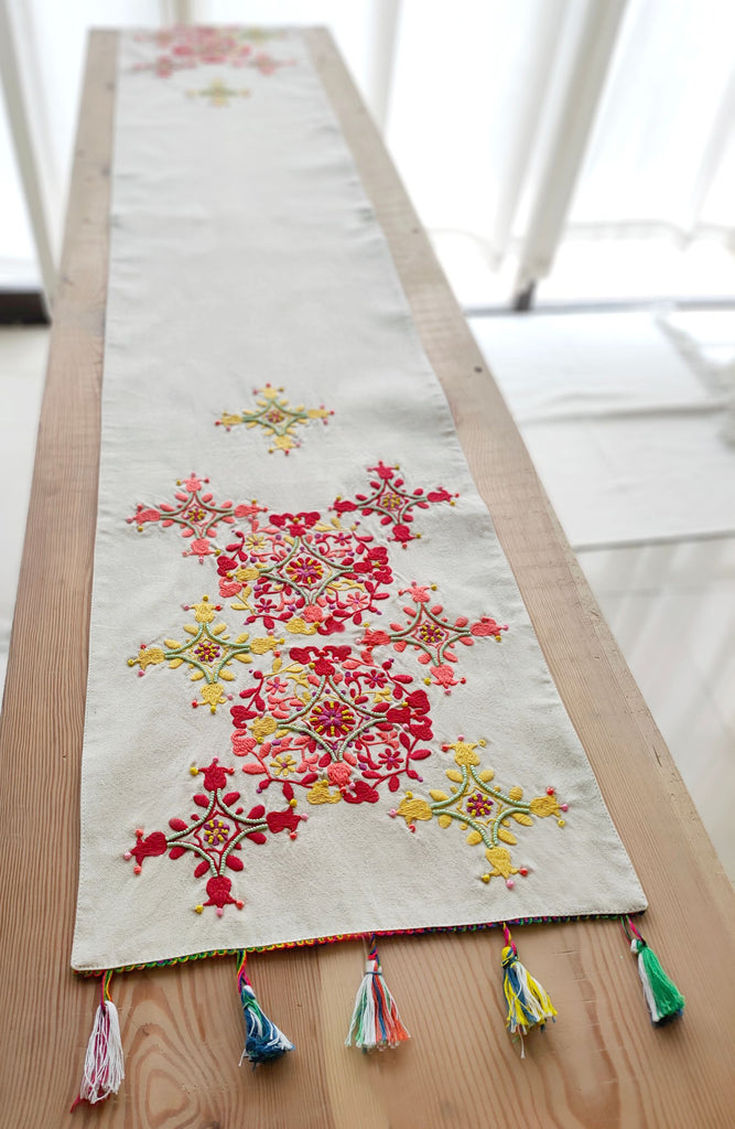 Handcrafted Multicolor Table Runner (33cm x 183cm)