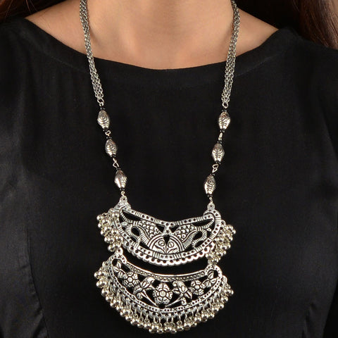 Silver Jharonka Necklace