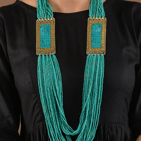 Turquoise Tibetean Beaded Necklace