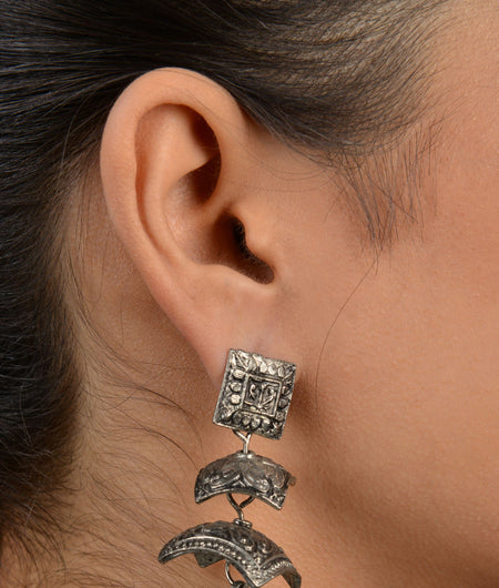 Silver Multi Tiered Jhumka