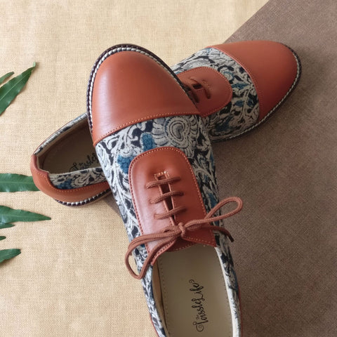 Kalamkari Printed Vegan Oxfords