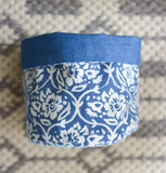 Handprinted Floral Basket Small