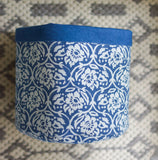 Handprinted Floral Basket Medium