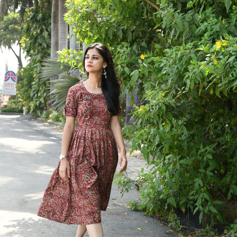 Kalamkari Frock Dress