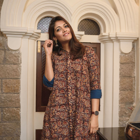 Kalamkari Shirt Dress