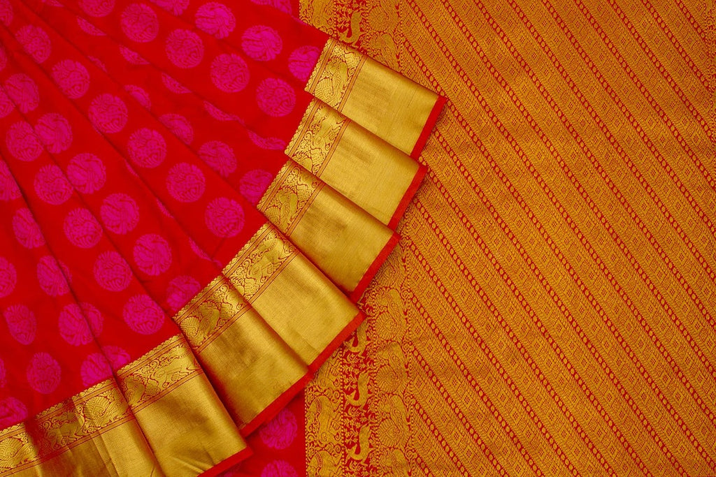 Kanjivaram Silk Zari Work Red Saree