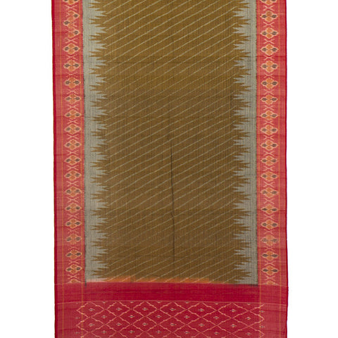 Pochampally Ikkat Cotton Dupatta in Beige and Red