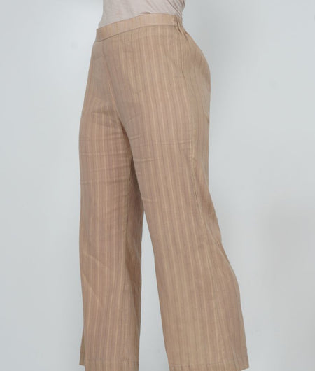 Hand Work Champagne Leno Cotton Pant