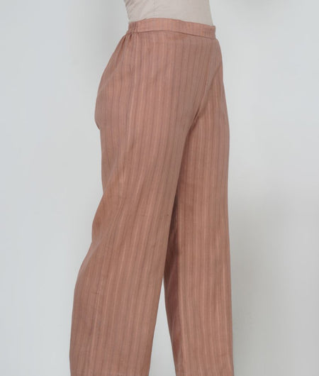 Hand Work Sepia Leno Cotton Pant