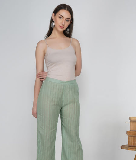Hand Work Rosemary Leno Cotton Pant