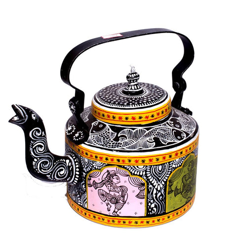 Multicolored Mughal Style Pattachitra Kettle