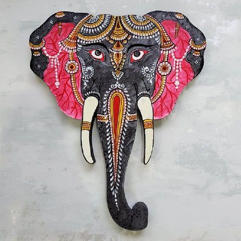 Black and Pink Elephant Head