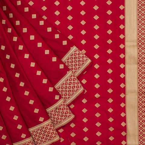 Banarasi Katan silk Saree in Red Colour