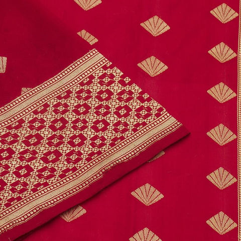 Banarasi Katan silk Katan silk Saree in  Red