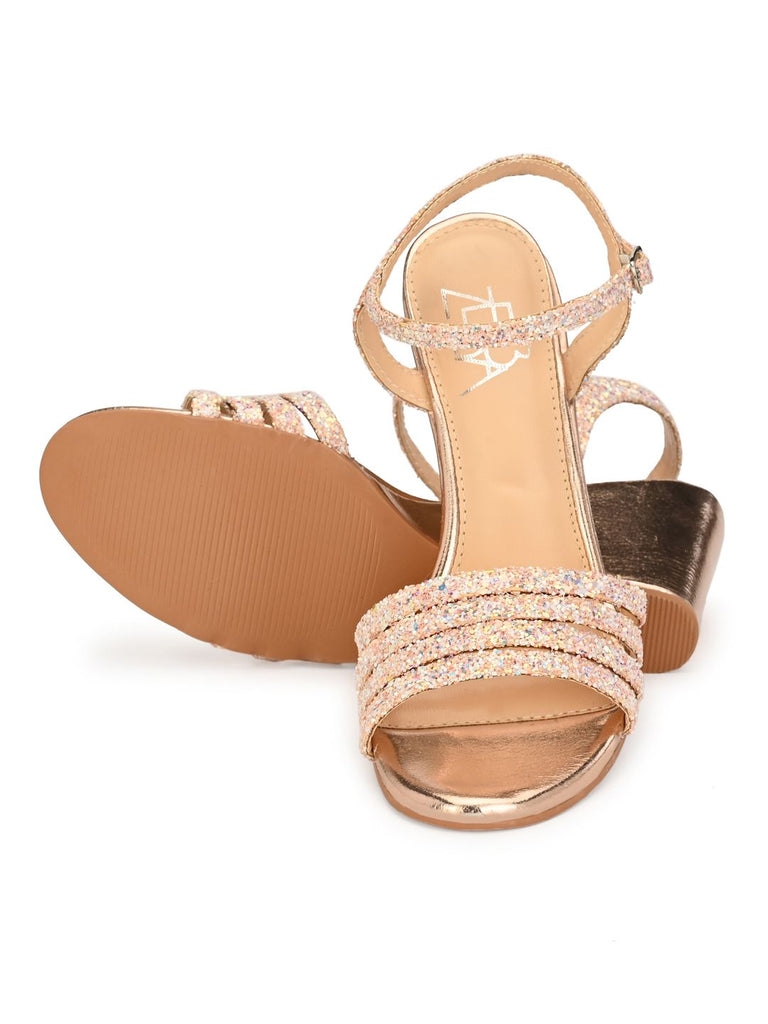 Pink And Rosegold Wedge