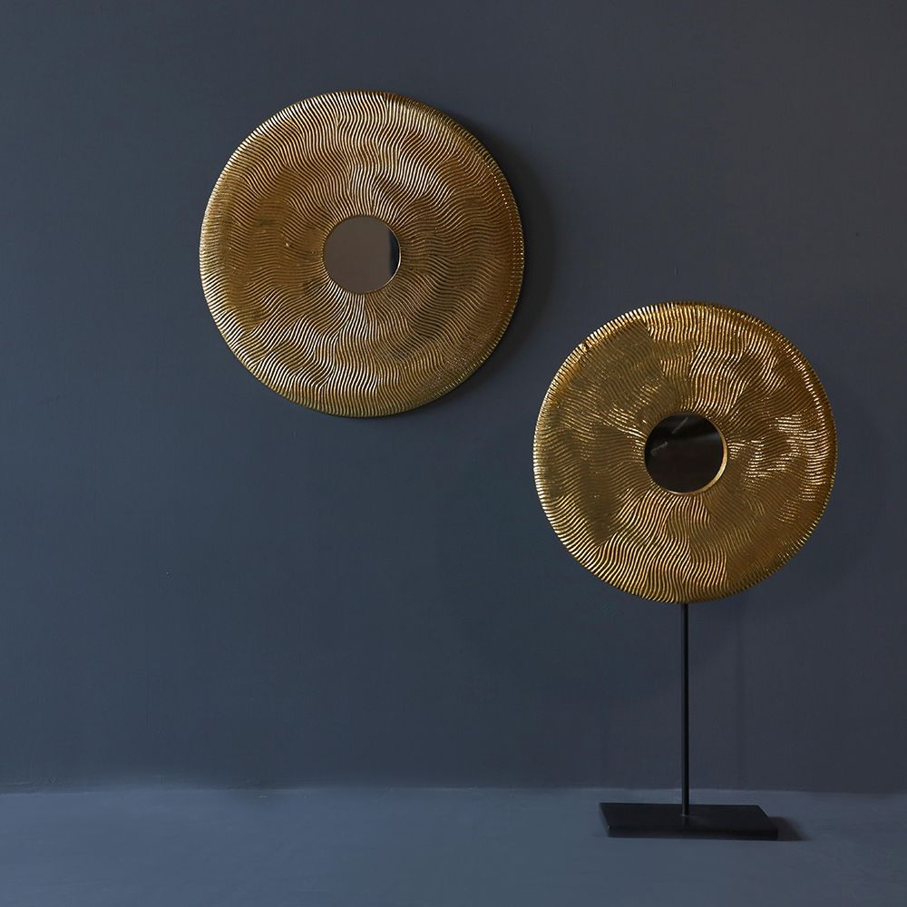 Golden Disc Tabletop Sculpture Large