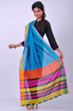 sky-blue-handwoven-cotton-dupatta-CRD5