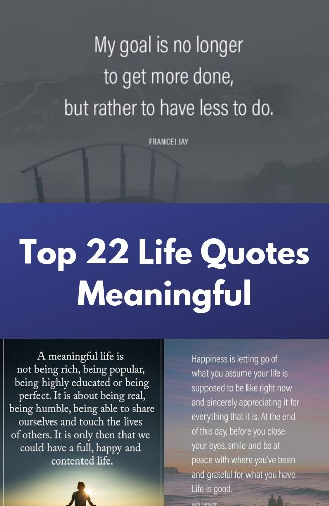 Top 22 Life Quotes Meaningful