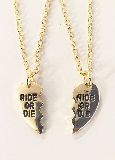 Ride or DIE necklace from Love Culture