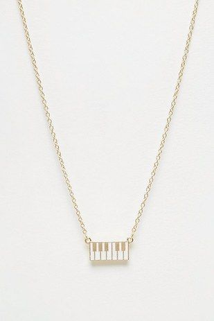 These itty-bitty piano keys necklace accessory